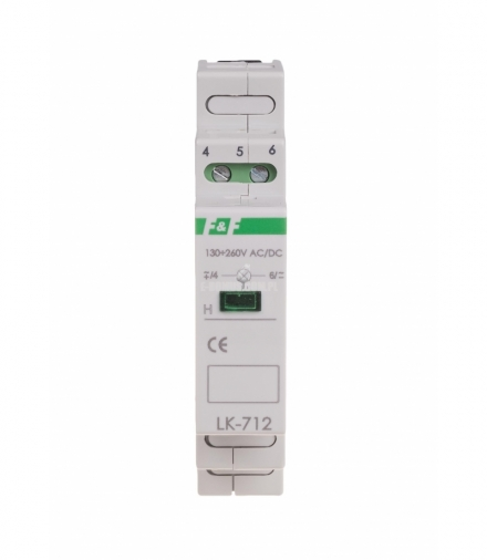 Lampka sygnalizacyjna LK-712R 130÷260 V AC/DC