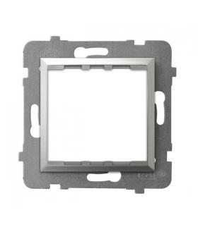 ARIA AP45-1U/m/18 Adapter podtynkowy systemu OSPEL 45 do serii Aria, SREBRO