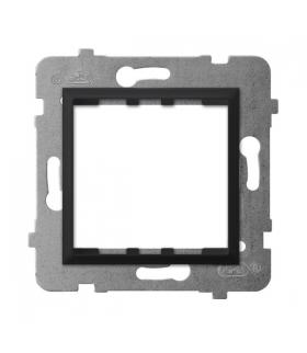 ARIA AP45-1U/m/33 Adapter podtynkowy systemu OSPEL 45 do serii Aria, CZARNY METALIK