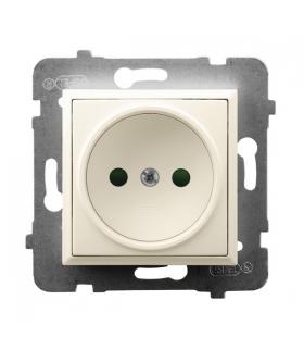 ARIA GP-1UP/m/27 Gniazdo pojedyncze z przesłonami torów prądowych, ECRU