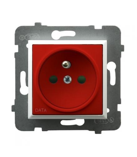 ARIA GP-1UZDP/m/00/22 Gniazdo pojedyncze z uziemieniem DATA z przesłonami torów prądowych, BIAŁY