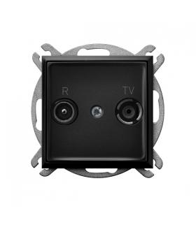 ARIA GPA-10UP/m/33 Gniazdo RTV przelotowe 10-dB, CZARNY METALIK