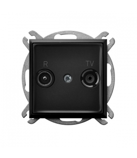 ARIA GPA-10UPZ/m/33 Gniazdo RTV zakończeniowe 10-dB, CZARNY METALIK