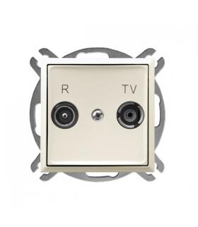 ARIA GPA-14UP/m/27 Gniazdo RTV przelotowe 14-dB, ECRU