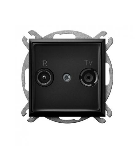 ARIA GPA-14UP/m/33 Gniazdo RTV przelotowe 14-dB, CZARNY METALIK