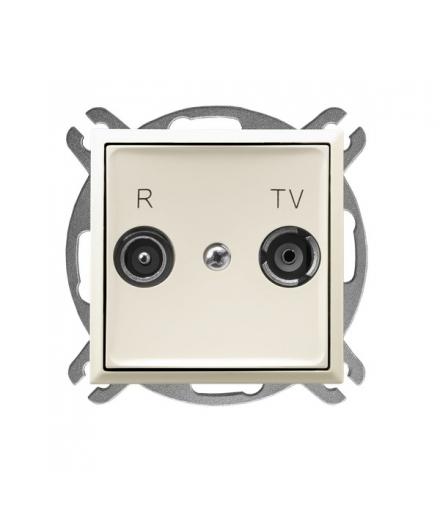 ARIA GPA-16UP/m/27 Gniazdo RTV przelotowe 16-dB, ECRU