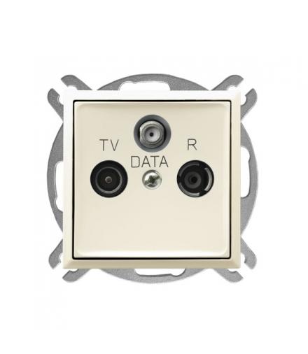 ARIA GPA-UD/m/27 Gniazdo RTV DATA, ECRU