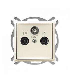 ARIA GPA-USP/m/27 Gniazdo RTV-SAT przelotowe, ECRU