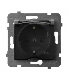 ARIA GPH-1USP/m/70/d Gniazdo bryzgoszczelne z uziemieniem schuko IP-44 z przesłonami torów prądowych wieczko przezroczyste, SZAR