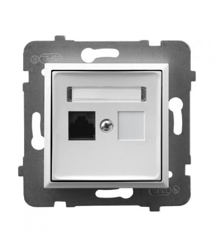 ARIA GPK-1U/K/m/00 Gniazdo komputerowe pojedyncze, kat. 5e MMC, BIAŁY