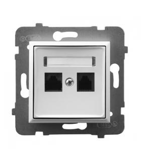 ARIA GPK-2U/K/m/00 Gniazdo komputerowe podwójne, kat. 5e MMC, BIAŁY
