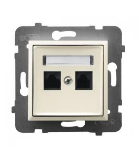 ARIA GPK-2U/K/m/27 Gniazdo komputerowe podwójne, kat. 5e MMC, ECRU