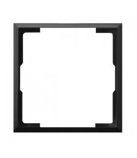 ARIA RO-2U/33 Ramka ozdobna do gniazd: wtyczkowych pojedynczych, teleinformatycznych i ściemniaczy, CZARNY METALIK