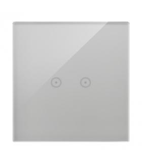 Panel dotykowy 1 moduł 2 pola dotykowe poziome, srebrna mgła DSTR12/71
