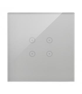 Panel dotykowy 1 moduł 4 pola dotykowe, srebrna mgła DSTR14/71