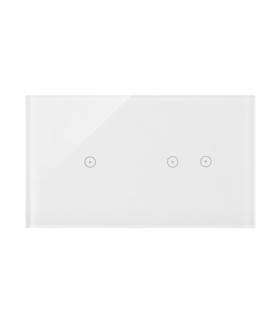Panel dotykowy 2 moduły 1 pole dotykowe, 2 pola dotykowe poziome, biała perła DSTR212/70