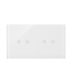 Panel dotykowy 2 moduły 2 pola dotykowe poziome, 2 pola dotykowe poziome, biała perła DSTR222/70
