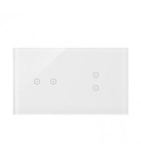 Panel dotykowy 2 moduły 2 pola dotykowe poziome, 2 pola dotykowe pionowe, biała perła DSTR223/70