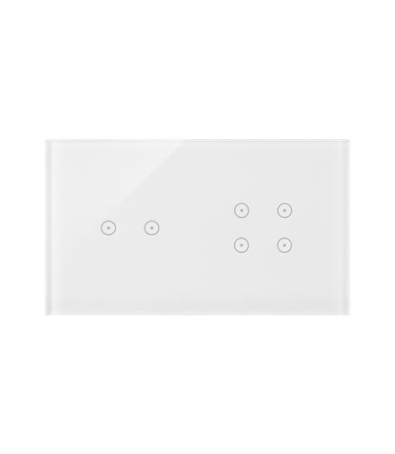 Panel dotykowy 2 moduły 2 pola dotykowe poziome, 4 pola dotykowe, biała perła DSTR224/70
