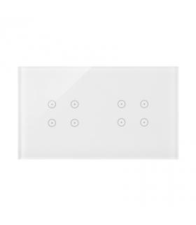 Panel dotykowy 2 moduły 4 pola dotykowe, 4 pola dotykowe, biała perła DSTR244/70