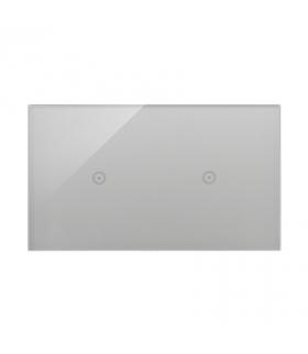 Panel dotykowy 2 moduły 1 pole dotykowe, 1 pole dotykowe, srebrna mgła DSTR211/71