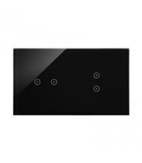 Panel dotykowy 2 moduły 2 pola dotykowe poziome, 2 pola dotykowe pionowe, zastygła lawa DSTR223/73