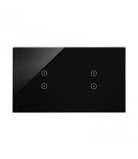Panel dotykowy 2 moduły 2 pola dotykowe pionowe, 2 pola dotykowe pionowe, zastygła lawa DSTR233/73