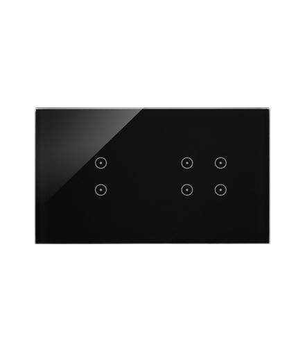 Panel dotykowy 2 moduły 2 pola dotykowe pionowe, 4 pola dotykowe, zastygła lawa DSTR234/73