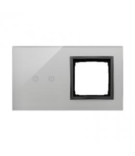 Panel dotykowy 2 moduły 2 pola dotykowe poziome, otwór na osprzęt Simon 54, burzowa chmura DSTR220/72