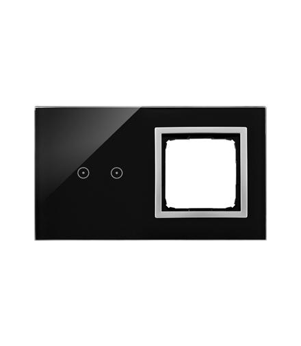 Panel dotykowy 2 moduły 2 pola dotykowe poziome, otwór na osprzęt Simon 54, księżycowa lawa DSTR220/74