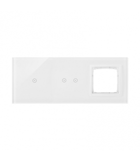 Panel dotykowy 3 moduły 1 pole dotykowe, 2 pola dotykowe poziome, otwór na osprzęt Simon 54, biała perła DSTR3120/70