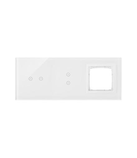 Panel dotykowy 3 moduły 2 pola dotykowe poziome, 2 pola dotykowe pionowe, otwór na osprzęt Simon 54, biała perła DSTR3230/70