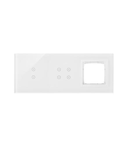 Panel dotykowy 3 moduły 2 pola dotykowe pionowe, 4 pola dotykowe, otwór na osprzęt Simon 54, biała perła DSTR3340/70