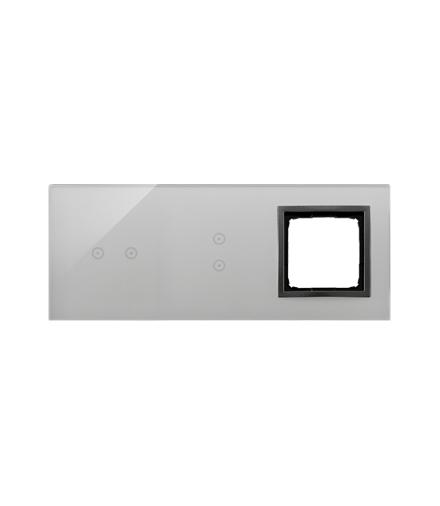 Panel dotykowy 3 moduły 2 pola dotykowe poziome, 2 pola dotykowe pionowe, otwór na osprzęt Simon 54, burzowa chmura DSTR3230/72