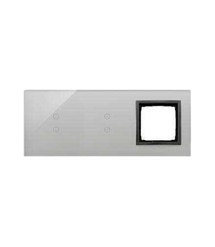 Panel dotykowy 3 moduły 2 pola dotykowe pionowe, 2 pola dotykowe pionowe, otwór na osprzęt Simon 54, burzowa chmura DSTR3330/72