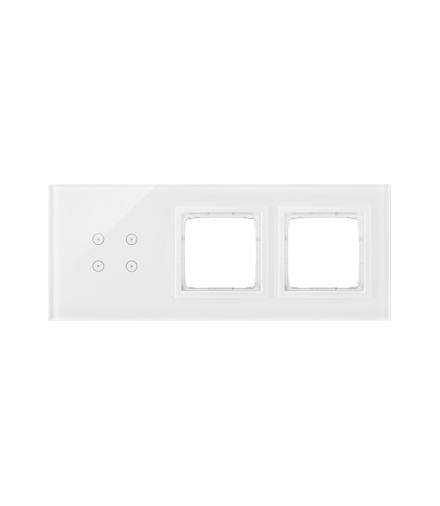 Panel dotykowy 3 moduły 4 pola dotykowe, otwór na osprzęt Simon 54, otwór na osprzęt Simon 54, biała perła DSTR3400/70