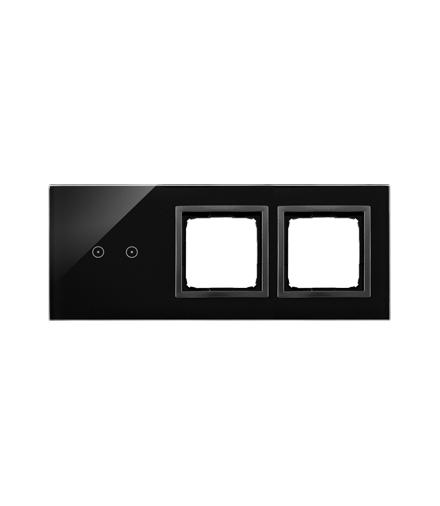 Panel dotykowy 3 moduły 2 pola dotykowe poziome, otwór na osprzęt Simon 54, otwór na osprzęt Simon 54, zastygła lawa DSTR3200/73