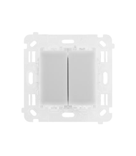Łącznik/Przycisk podwójny uniwersalny, 230V, 2x6A ST2M