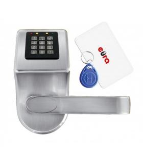 SZYLD Z KONTROLĄ DOSTĘPU EURA ELH-70B9 SILVER z czytnikiem RFID i  szyfratorem, uniwersalny rozstaw śrub