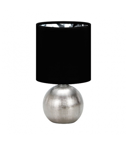 Lampka stołowa PERLO E14 SILVER/BLACK IDEUS 03290