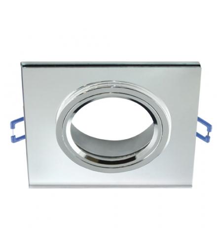 Oprawa SZKLANA oczko Pierścień ozdobny SELENA D CLEAR przezroczysta kwadrat IDEUS 03596