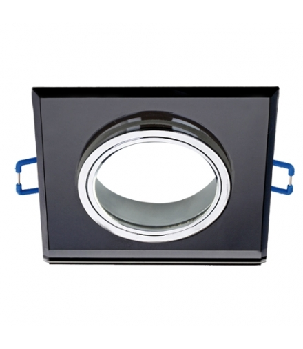 Oprawa SZKLANA oczko Pierścień ozdobny SELENA D BLACK czarna kwadrat IDEUS 03600