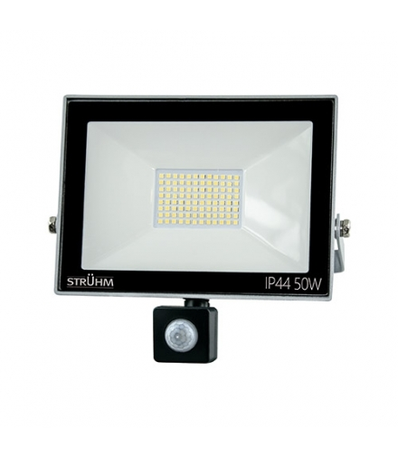 Naświetlacz SMD LED z czujnikiem ruchu KROMA LED S 50W GREY 4500K IDEUS 03607