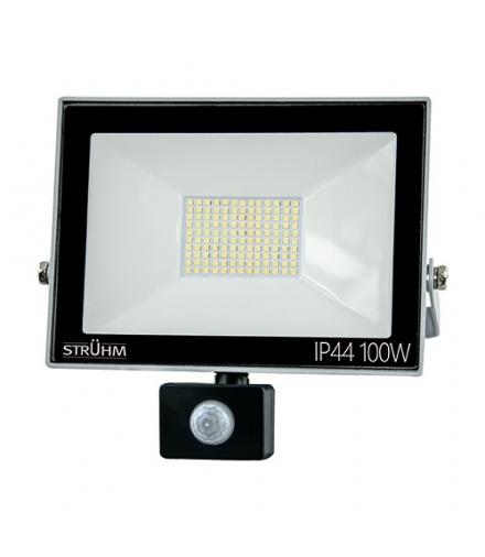 Naświetlacz SMD LED z czujnikiem ruchu KROMA LED S 100W GREY 4500K IDEUS 03608