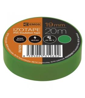 Taśma izolacyjna PVC 19mm / 20m zielona EMOS F61929