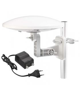 Antena zewnętrzna EM-9016C, 0–80 km DVB-T2 / filtr LTE/ 4G z zasilaczem 230/12V