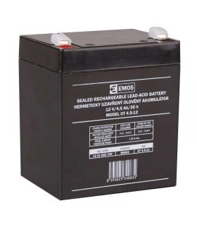 Akumulator AGM 12V 4,5Ah F4,7 EMOS B9653