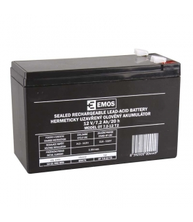 Akumulator AGM 12V 7,2Ah F6,3 EMOS B9674