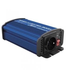 Przetwornica napięcia 12V/230V, 300W, USB 2100mA EMOS N0036