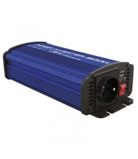 Przetwornica napięcia 12V/230V, 600W, USB 2100mA EMOS N0037
